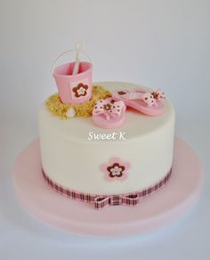 Baby girl cake- cute... With some changes