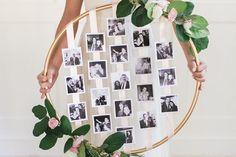 Zo maak je deze gave persoonlijke fotohanger van een hoelahoep en wat linten!