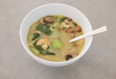 Made this with spinach instead of bok choy and chicken broth instead of bone broth, it was yummy and #paleo