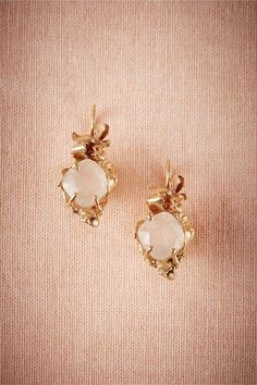Nina Odeta Crystal Ivory/off-white Organza Drop Earrings Wedding/bridal Engagement & Wedding