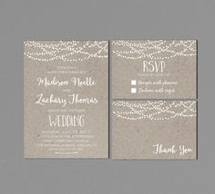 Wedding Invitation Printable, Modern Wedding Suite, Rustic Wedding Invites, White Neutral, with RSVP PLEASE NOTE: These items are DIGITAL FILES. You are purchasing a digital file only. No physical item will be shipped. No printed materials are included. Upon placing your order, a jpeg and pdf file will be emailed to the email address you have registered with Etsy. Please check Shipping & Policies for current turnaround time. You can print from your home computer or send to a printing shop…