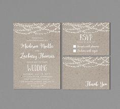 Invitación boda imprimible moderna Suite de por INVITEDbyAudriana
