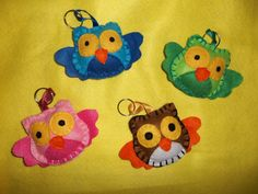 Keychain OWL by BazarDiSottomondo on Etsy