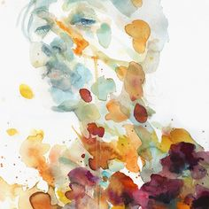 Softness and beauty is showcased in Flora I, by artist Agnes Cecile.  Life is Better with Great Art. Shop now at Eyes On Walls.  #art #digitalart #illustration #digital #digitalillustration #streetart #urbanart #watercolor #watercolorart #Italy #brushstroke #floral #portrait #beauty