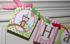 Great colors and I'm loving this owl theme!