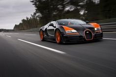 #Bugatti has set another world record! This time, they've built the fastest open top production #car...In The World. See the #Bugatti Veyron Grand Sport Vitesse in action.