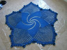 Blue Mandala Throw By Shannon Mullett-Bowlsby - Free Crochet Pattern - (ravelry)