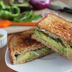 Grilled Avocado Sandwiches /by vegan yumminess #vegan #recipe