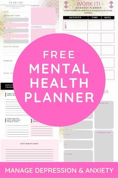 Mental Health Resources: My Planner - Radical Transformation Project - - This is the first post in my free mental health resources series. This is the planner I've been using, it has daily pages, gratitude prompts and more! Free Mental Health, Mental Health Journal, Mental Health Resources, Mental Health Awareness, Coping With Depression, Depression Help, Printable Planner, Free Printables, Printable Calendars