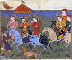 Hülegü et son armée.Hulagu and his army. Jami' al-tawarikh, Rashid al-Din.