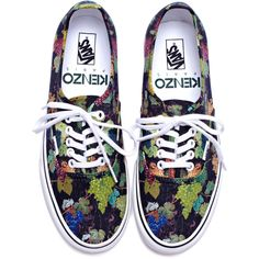Kenzo x Vans Print Sneakers ($125) ❤ liked on Polyvore