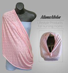 Nursing Scarf light pink 3 in 1 Nursing Infinity by MamaMelonBC Breastfeeding Scarf, Nursing Scarf, Car Covers, Infinity, Car Seats, Canopy, Pink, Free, Google