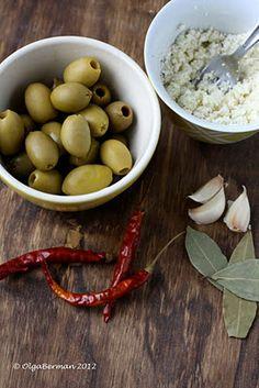 Feta-stuffed olives