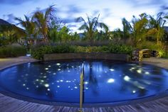 Take a dip in the plunge pool, reminiscent of the local bioluminescent bay. At W Retreat and Spa - Vieques Island #honeymoon #spgweddings #spglife