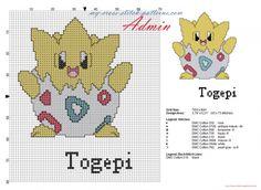 Togepi Pokemon 175 deuxième génération Pokemon grille point de croix gratuit