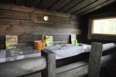 Ihanat saunat asuntomessuilla! Finnish Sauna, Outdoor Furniture, Outdoor Decor, Home Renovation, Traditional, Kitchen, Table, House, Home Decor