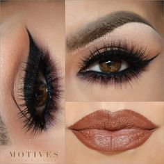 beautiful makeup pictorial using motivescosmetics lip crayon in PECAN