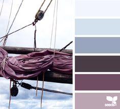 Nuances de violet et bleu / Purple and blue Paint Color Palettes, Colour Pallette, Colour Schemes, Color Combos, Color Patterns, Colour Colour, Design Seeds, Color Balance, World Of Color