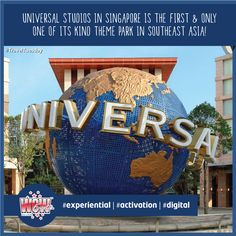 #TravelTuesday   Universal Studios Singapore is a truly unique, world-class movie theme park with cutting-edge rides, shows and attractions. Experience the best in Singapore! #WOWEvents