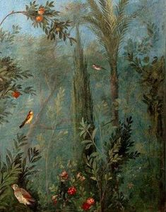 Fresco from the Villa of Livia , Prima Porta, near Rome , circa 1st century BC.