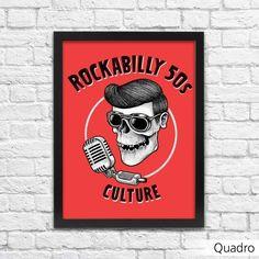Quadro Rockabilly - Machine Cult - Kustom Shop   A loja das camisetas de carro e moto
