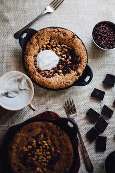 Grain free!! chocOlate cherry pine nut cookie cake (vegan/grain free/gluten free)