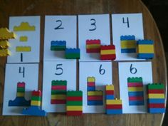 Fun way for young kids to learn patterns, numbers, colors, and hand eye coordination. Little ones can have a hard time just linking the blocks together. I have 20month, 2, 3, and 4 year olds working on this project. Older kids, I put the blocks in a pile for them to search for size and color of blocks needed for picture. We say the colors, count the blocks, and sequence them in the right order. Fun way to get little ones to learn without them fussing.