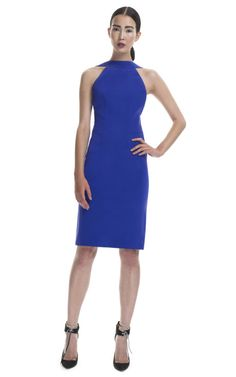 Dion Lee Ultra Violet Bi Stretch Backless Dress: beautiful either from front and back.