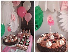 Sweet table d'anniversaire Ses 3 ans gourmands... Chez cette fille #watercolor #pastel #diy
