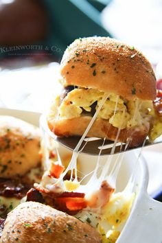 Sausage Egg Bacon Cheese Breakfast Sliders | 15 Amazingly Delicious Sliders You Need To Eat ASAP