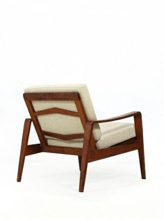 Arne Wahl Iversen; Teak Armchair for Komfort Moebler, 1960s.