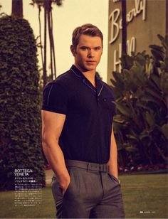 Model and actor Kellan Lutz (Ford Models) stars in the Days in LA story captured by fashion photographer Arnaldo Anaya Lucca for the May 2014 edition of GQ Kellan Lutz, Gq, Tom Ford, Calvin Klein, Hottest Male Celebrities, Celebs, Japan Photo, Polo T Shirts, Celebrity Crush