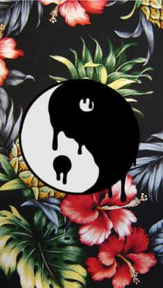 Ying yang // Rad // grunge background