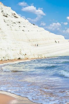 The Scala dei Turchi is a beach in southern Sicily that translates to the Stair of the Turks.  The name makes sense as the cliffs are naturally formed into brilliant white stairs!  Click through to see 15 more of the world's most unique & awesome beaches!