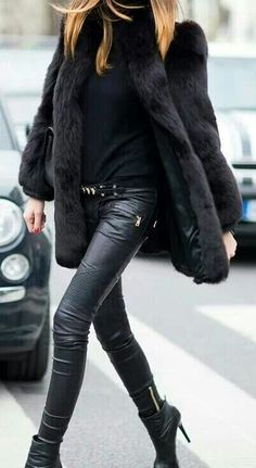 Love this coat and leather pants