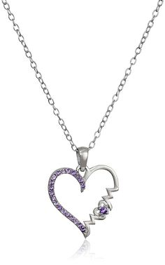 Sterling Silver Mom' Heart Pendant Necklace -- Visit the image link more details. (This is an Amazon Affiliate link and I receive a commission for the sales)