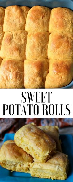 Homemade sweet potato dinner rolls recipe #breadrecipe