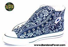 Bandana Fever Custom Bandana Converse All-Star Chuck Taylor Hi Navy/Navy Bandana