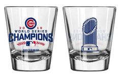 Chicago Cubs 2016 World Series Champions 2oz Trophy Shot glass #ChicagoCubs