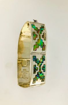 Excited to share the latest addition to my #etsy shop: Los Ballesteros Bracelet Sterling Abalone Inlay Vintage Taxco