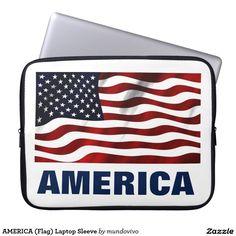 AMERICA (Flag) Laptop Sleeve