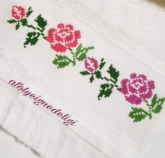 Ribbon Embroidery, Cross Stitch Embroidery, Embroidery Designs, Cross Stitch Boarders, Cross Stitch Patterns, Needlework, Knit Crochet, Diy And Crafts, Lily