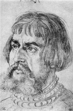 Portrait of Lucas Cranach the Elder - Albrecht Durer