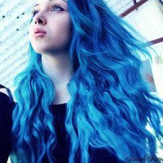 Unreal looking blue hair