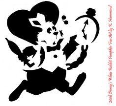 White Rabbit Pumpkin Pattern by ~jadewik on deviantART