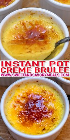 easy one pot meals Instant Pot Creme Brulee is soft, luxuriously creamy, and so comforting! There is something complex about this dessert that people love but really, it is so easy to Coffee Creme Brulee, Creme Brulee Cake, Cream Brulee, Easy Creme Brulee Recipe, Vegan Creme Brulee, White Chocolate Creme Brulee, Vegan Dessert Recipes, Cooking Recipes, Pots