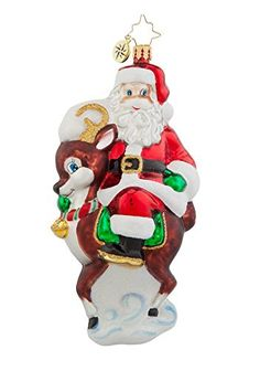 Christopher Radko Glass Deer Companion Santa and Reindeer Christmas Ornament 1017808 -- This is an Amazon Affiliate link. Click on the image for additional details.