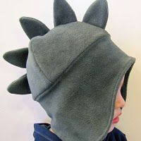 Warm Winter Hat Pattern and Tutorial.would make without dino spikes Sewing For Kids, Baby Sewing, Sewing Tutorials, Sewing Projects, Fleece Projects, Free Tutorials, Video Tutorials, Sewing Crafts, Fleece Hat Pattern