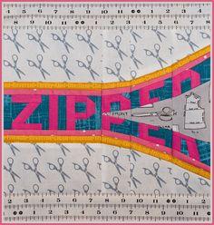 Zipper Paper Piecing