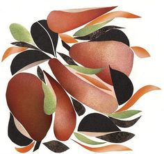 Collage Pears and radish with tapenade, olive oil and Parmesan - Alain Passard